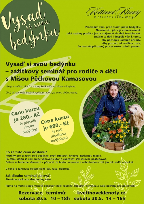 Vysaď si svou bedýnku – zážitkový seminář pro rodiče i děti